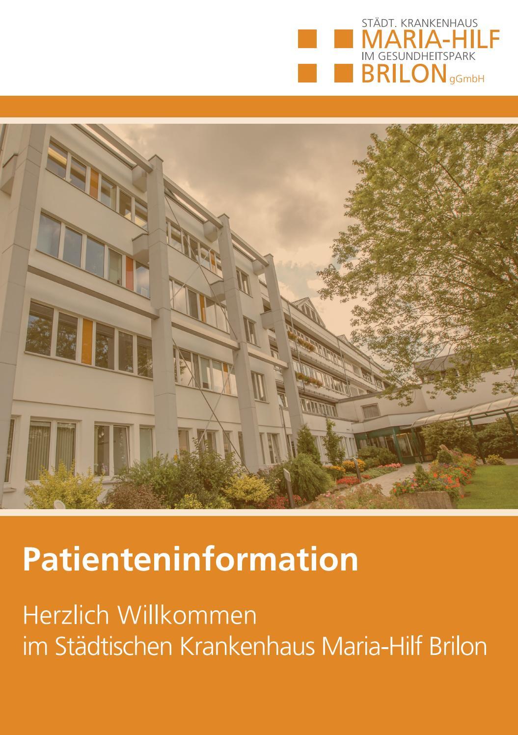 Patienteninformation final september 2017 by Brilon-totallokal - issuu