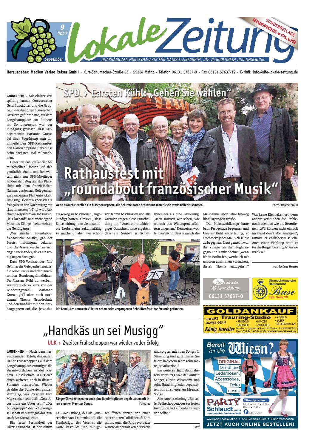 Lokale Zeitung Laubenheim Vg Bodenheim September 2017 By David Weiß