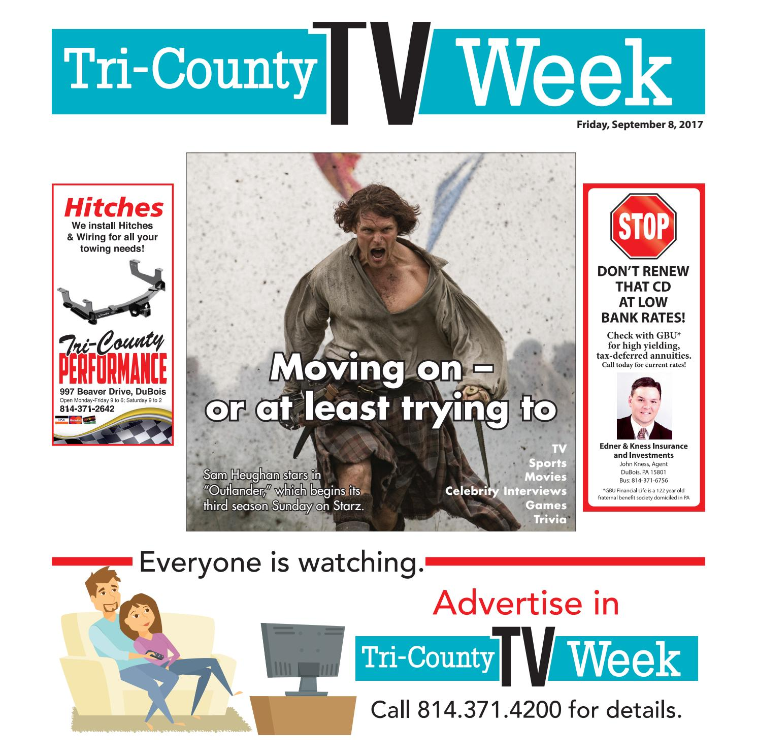 7e90f064c25 TV Week 09/08/2017 by Tri-County TV Week - issuu