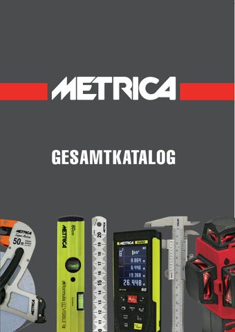 GESAMTKATALOG DE 2017 by METRICA Spa - issuu