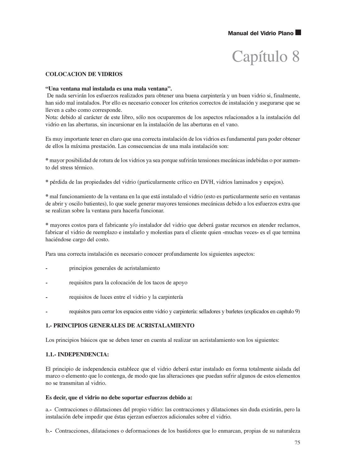 Manual Vidrio Plano by Alumex Sapa - issuu