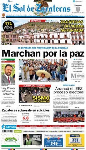 52e7096fed El Sol de Zacatecas 8 de septiembre 2017 by El Sol de Zacatecas - issuu