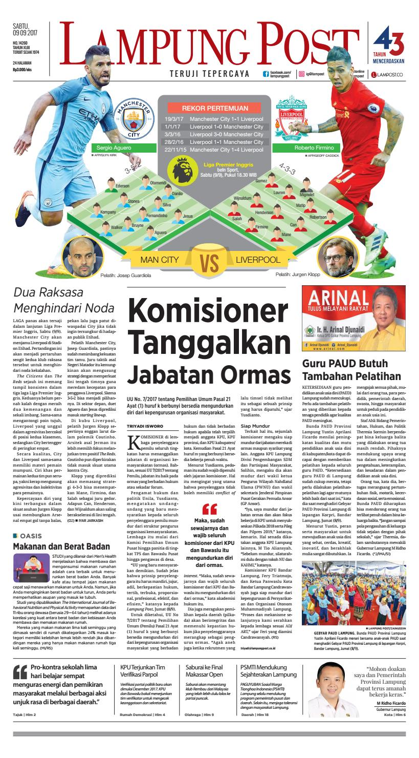 Lampung Post Sabtu 2 Desember 2017 By Lampung Post Issuu # Muebles Bega Murcia