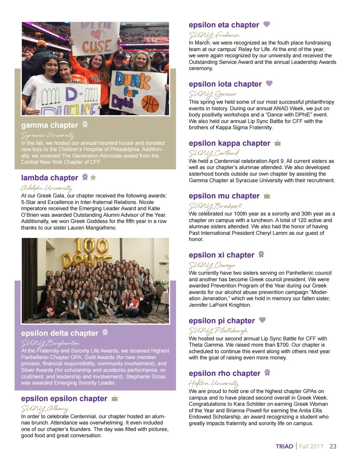 945ba2390046 TRIAD Fall 2017 by Delta Phi Epsilon International Headquarters - issuu