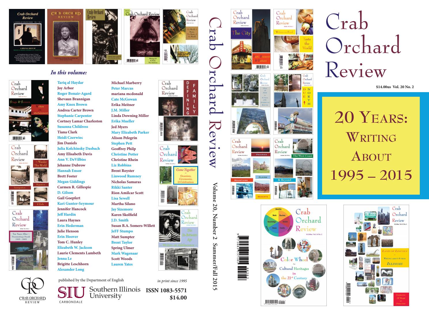 1b3f3417 Crab Orchard Review Vol 20 No 2 S/F 2015 by Crab Orchard Review - issuu