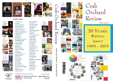 aed6867e11de65 Crab Orchard Review Vol 20 No 2 S F 2015 by Crab Orchard Review - issuu