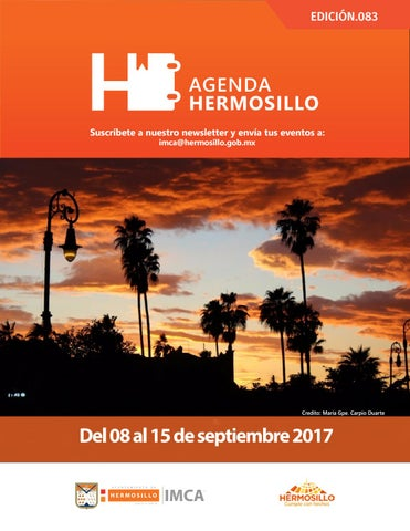 "Cover of ""Agenda Hermosillo 08 sep 2017"""