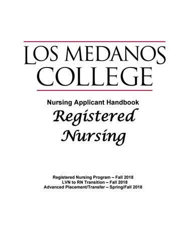 rn applicant handbook final by los medanos college - issuu
