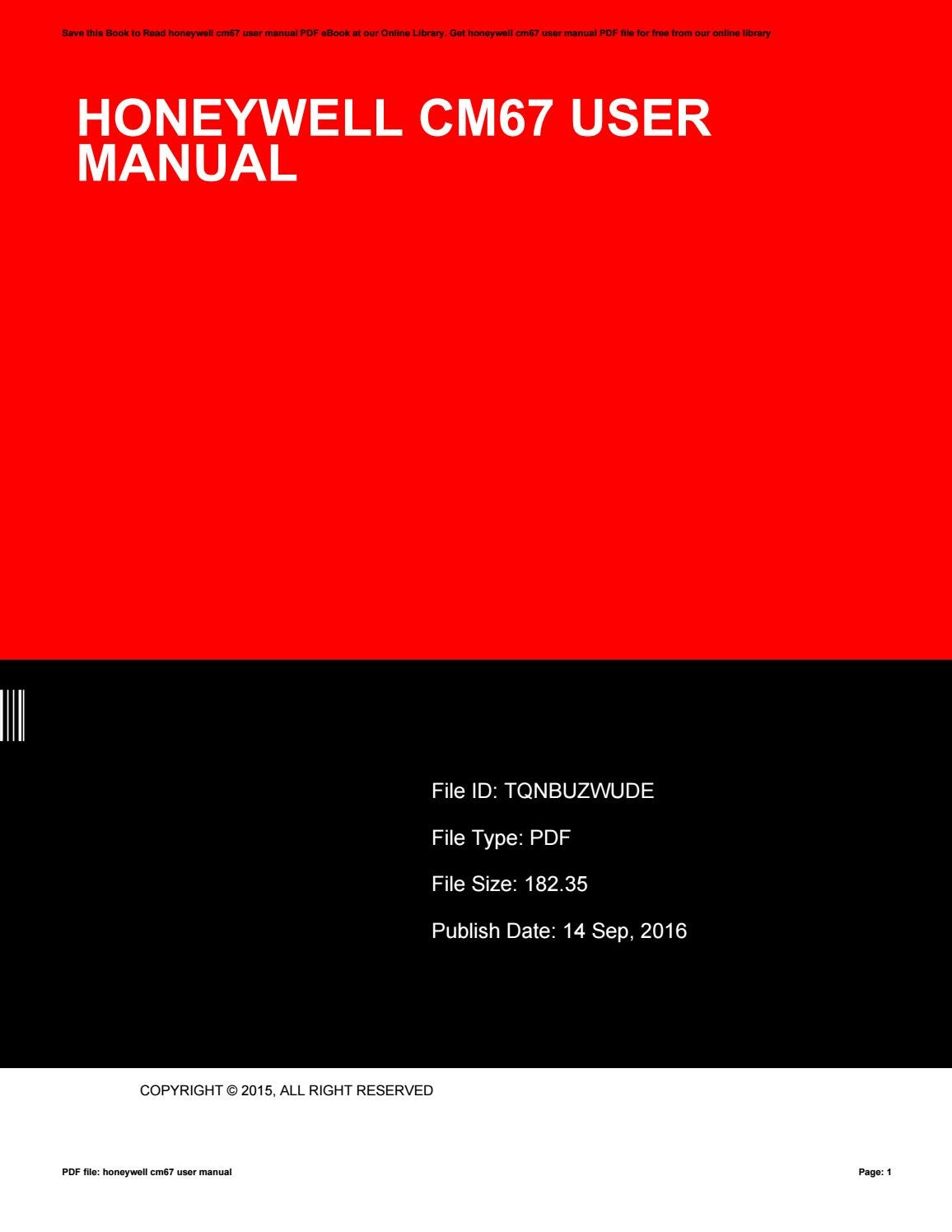 Honeywell cm67ng central heating download manual for free now.