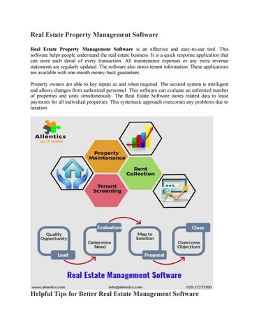Real estate management software by amrutaallentics - issuu