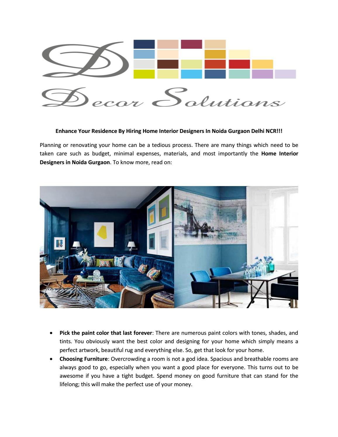 Home Interior Designers In Noida By Decor Solutions Issuu