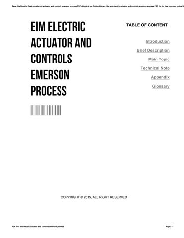 Eim electric actuator and controls emerson process by SusanLucas4421