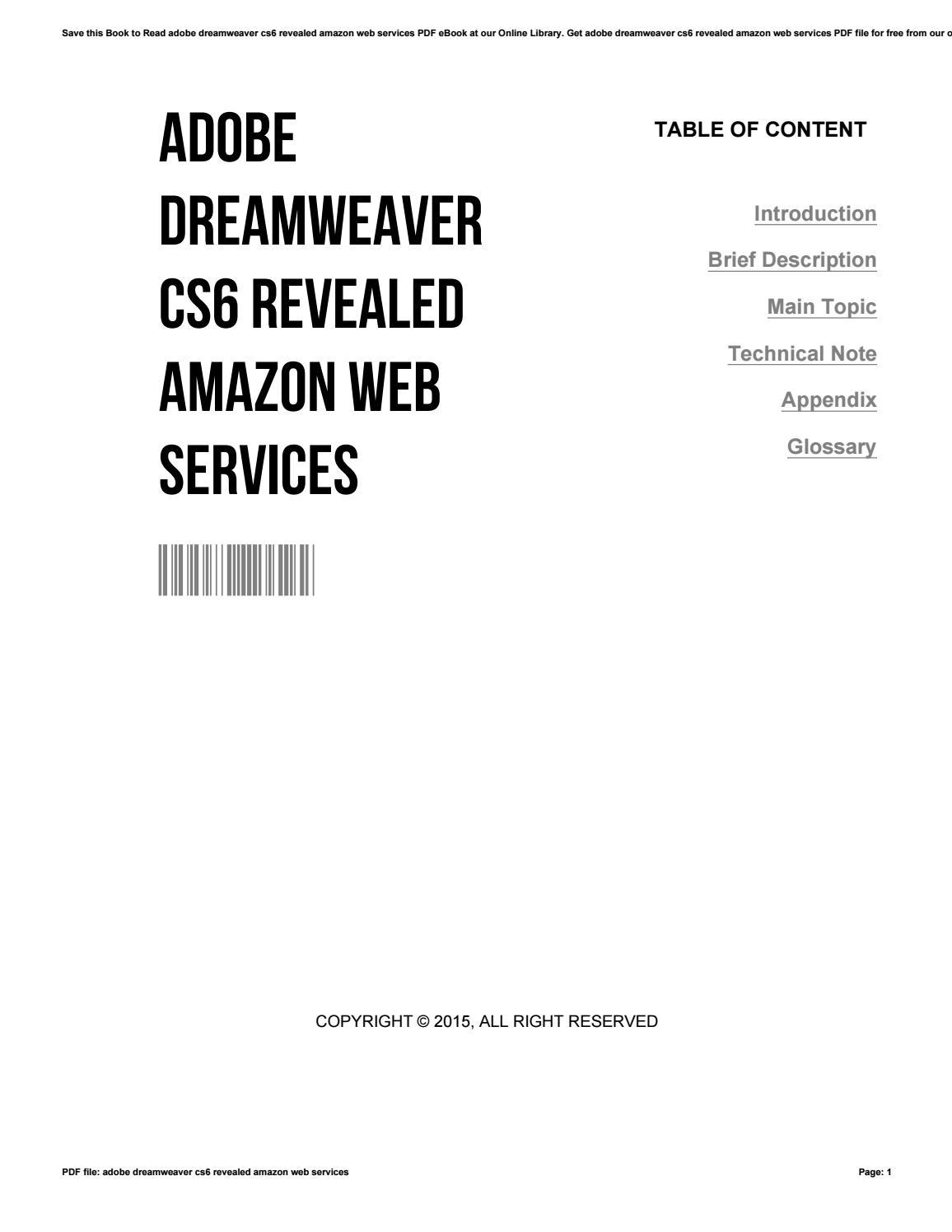 Adobe Dreamweaver Cs6 Revealed Pdf