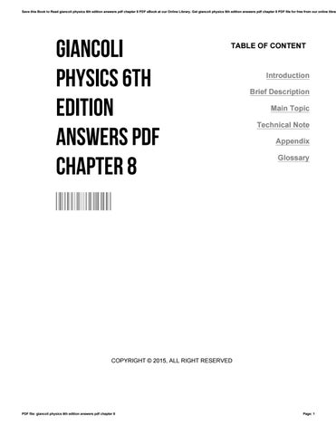Giancoli physics 7th edition solutions pdf.