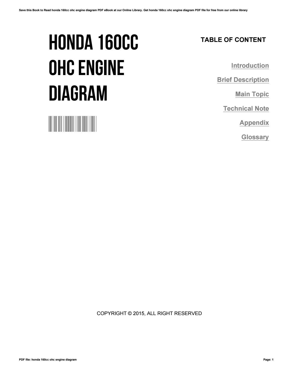 Honda 160cc Ohc Engine Diagram By Deborastone2494
