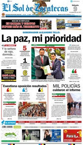 4878d5fd7b92b El Sol de Zacatecas 9 de septiembre 2017 by El Sol de Zacatecas - issuu