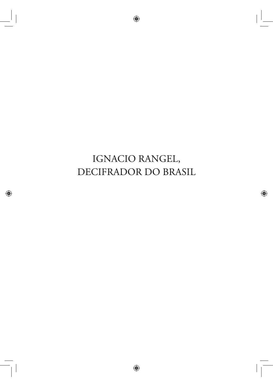Ignacio Rangel Decifrador Do Brasil By Jhonatan Almada Issuu