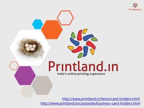Printland Buy Online Business Visiting Cards Holder With Custom