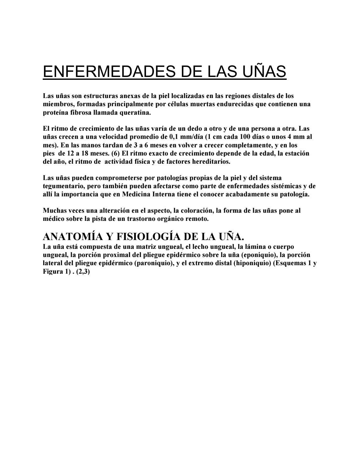 Enfermedades de las Uñas by Podoline - issuu