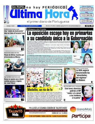 Edicion 10 09 2017 by Ultima Hora - El primer diario de