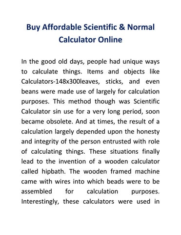 Buy Affordable Scientific & Normal Calculator Online by