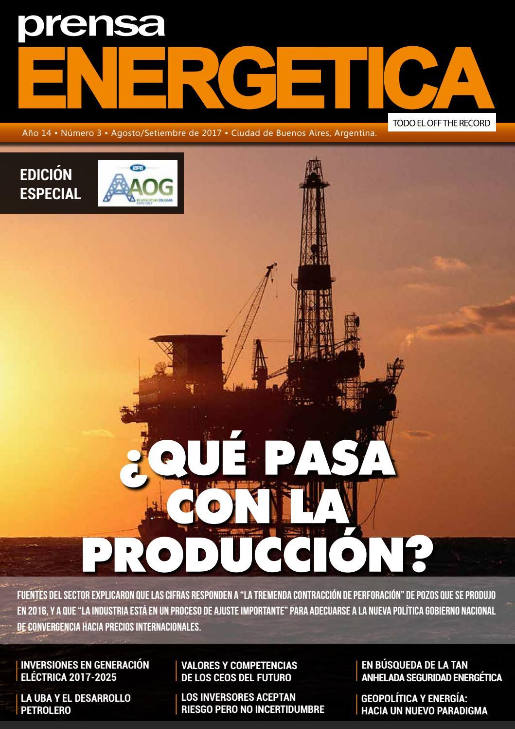 REVISTA PRENSA ENERGETICA AGOSTO / SETIEMBRE 2017 by gsalip gaston ...