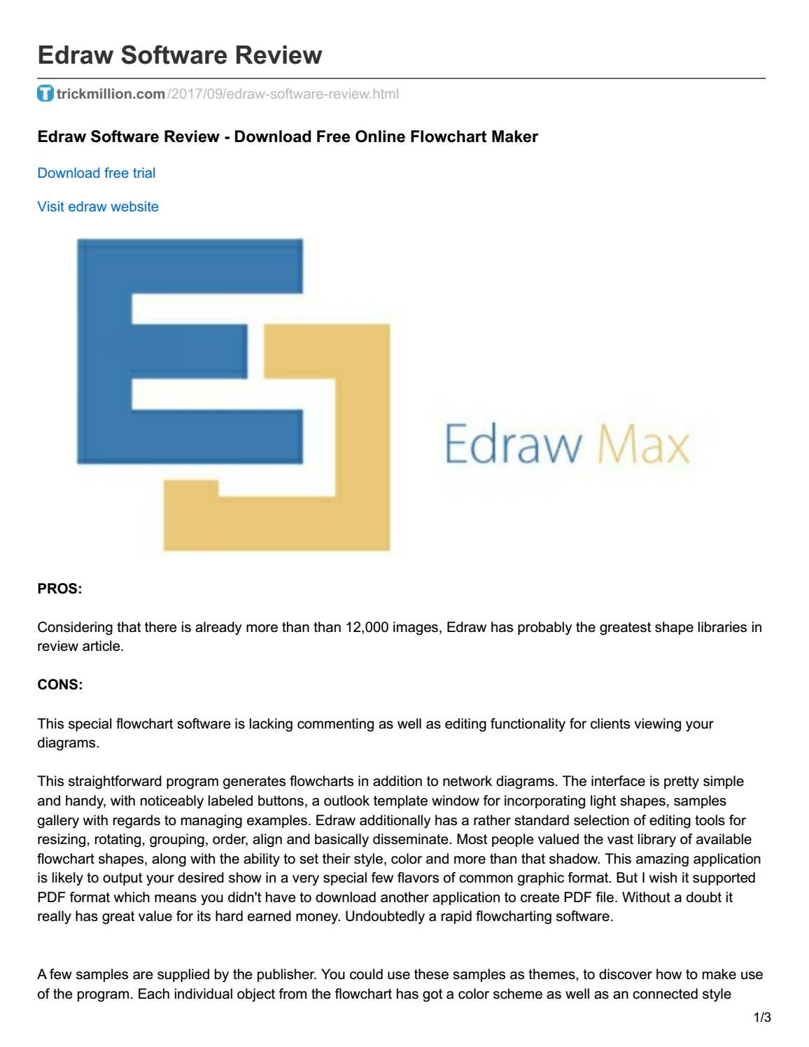 Trickmillion Com Edraw Software Review By Mohdakthar Issuu