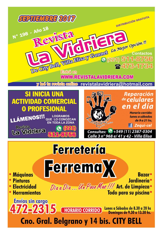 Revista La Vidriera Septiembre 2017 By Revista La Vidriera De City  # Muebles Locos Centenario