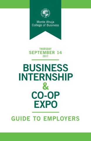 2017 Business Internship Co Op Expo Guide To Employers By