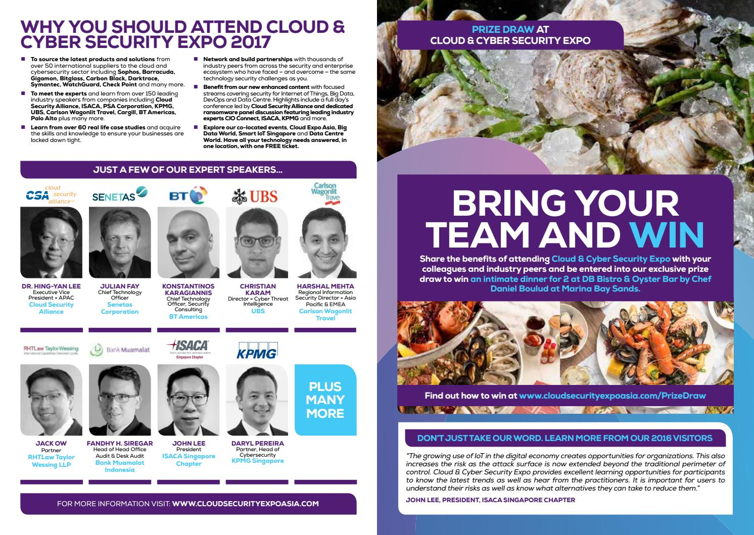 Cloud & Cyber Security Expo, Singapore 2017 Ticket by Cloud Expo