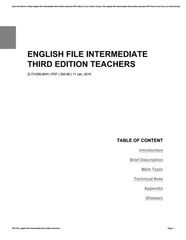 English File Intermediate Third Edition Teachers Book Pdf