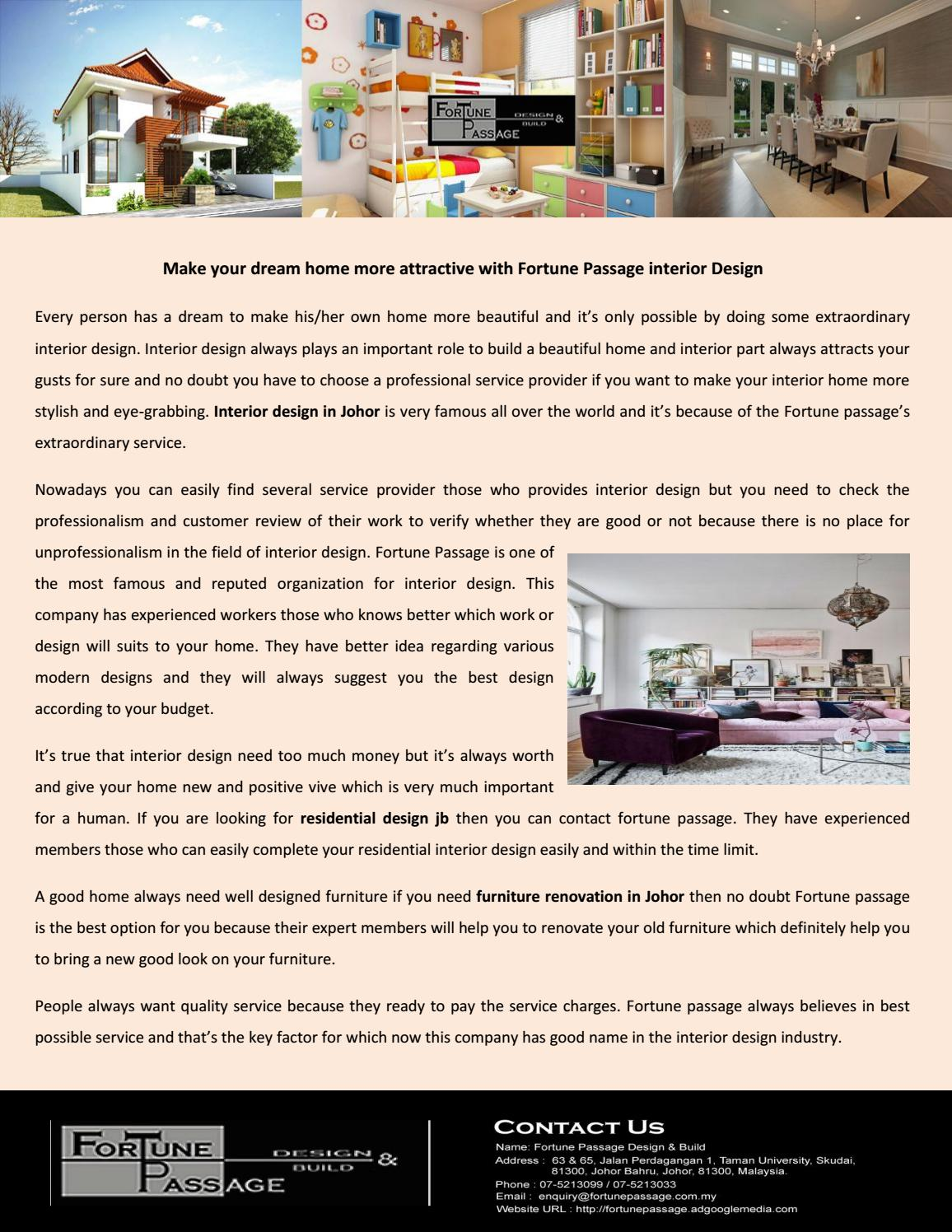 Residential Design Jb By Fortune Passage Issuu