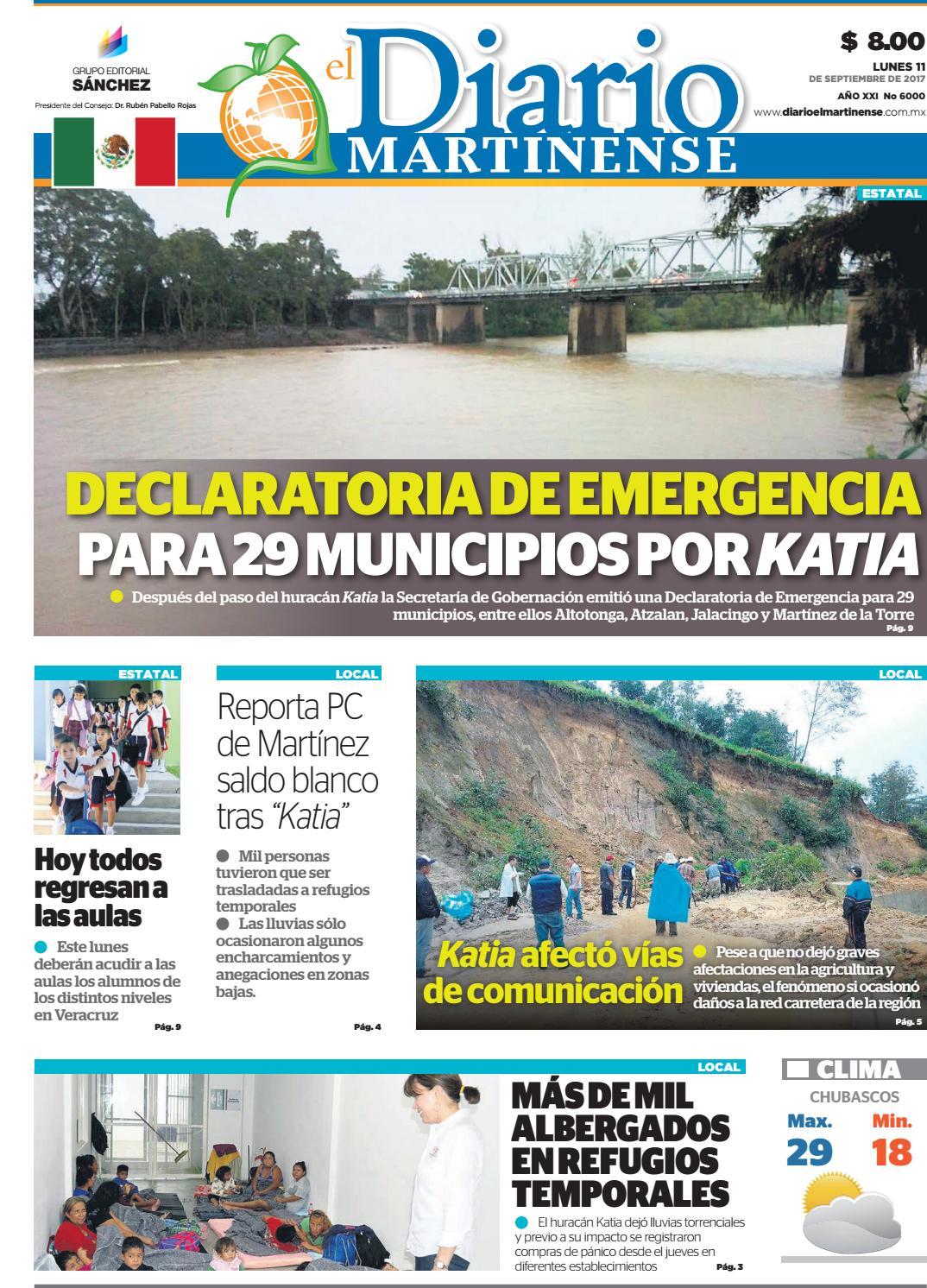 El Diario Martinense 11 De Septiembre De 2017 By Fernando Carmona  # Ad Hoc Muebles Veracruz