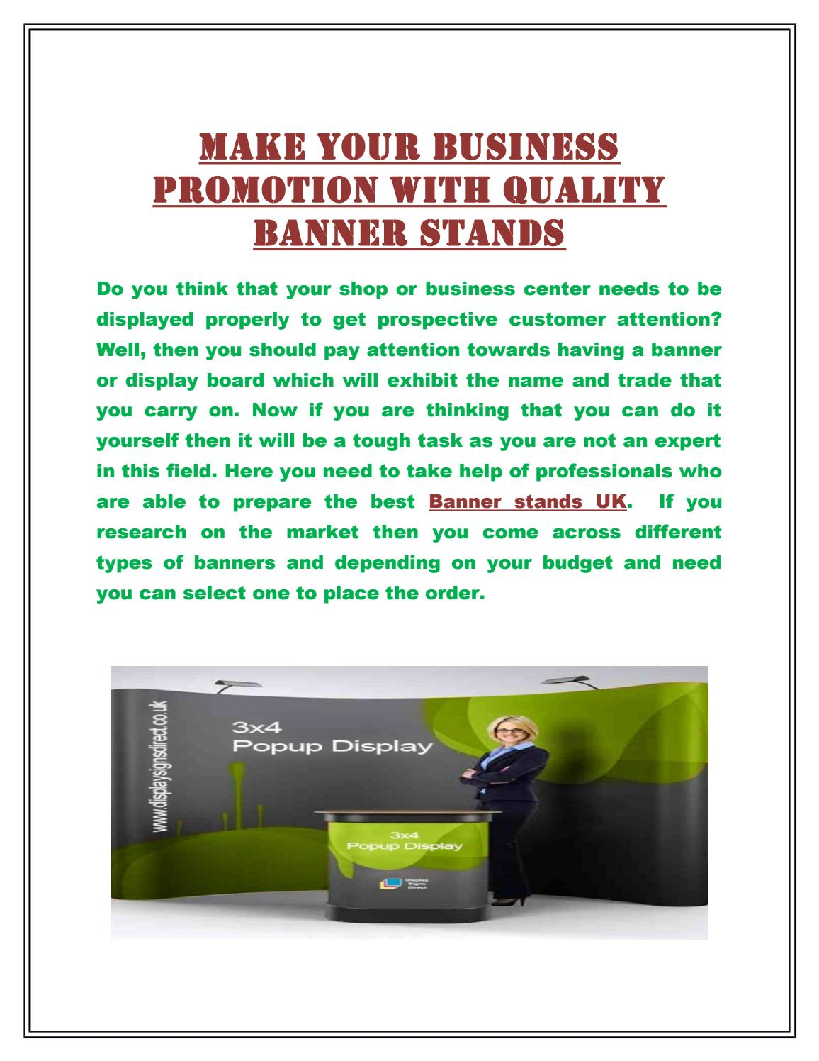 make your business promotion with quality banner stands by display