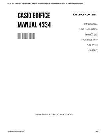 casio edifice manual 4334