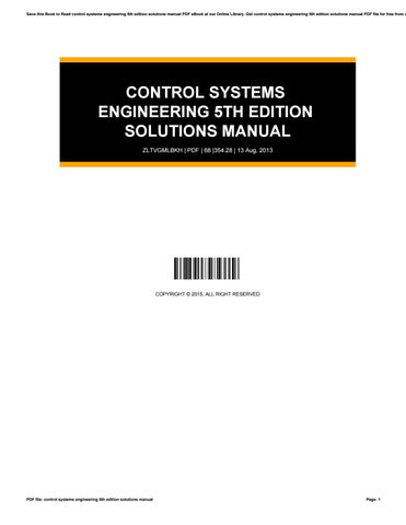Solution manual system engineering pdf control
