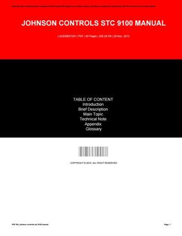 johnson controls stc 9100 manual by melissareveles3587 issuu rh issuu com