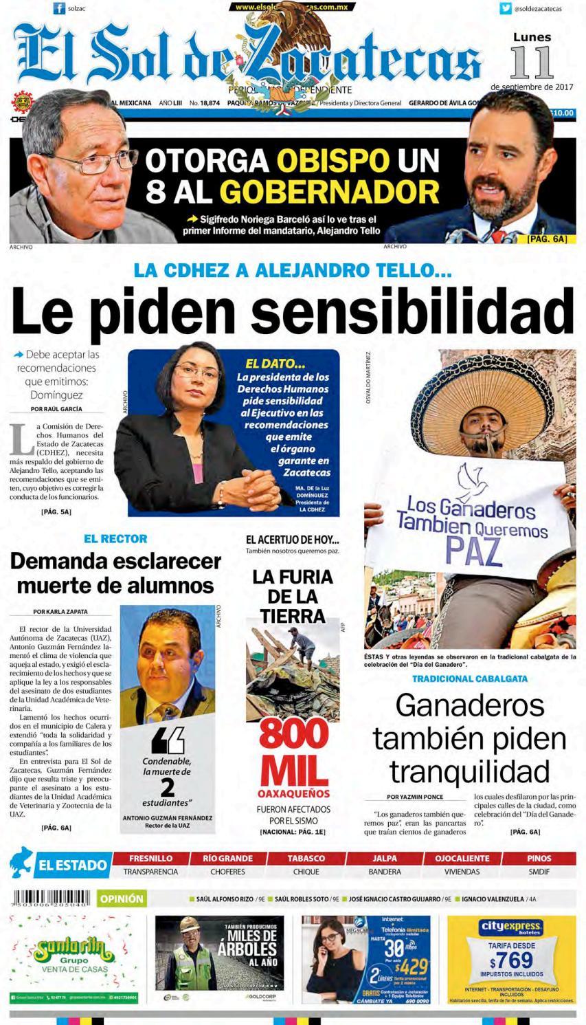 El Sol de Zacatecas 11 de septiembre 2017 by El Sol de Zacatecas - issuu eee4fb5f131f