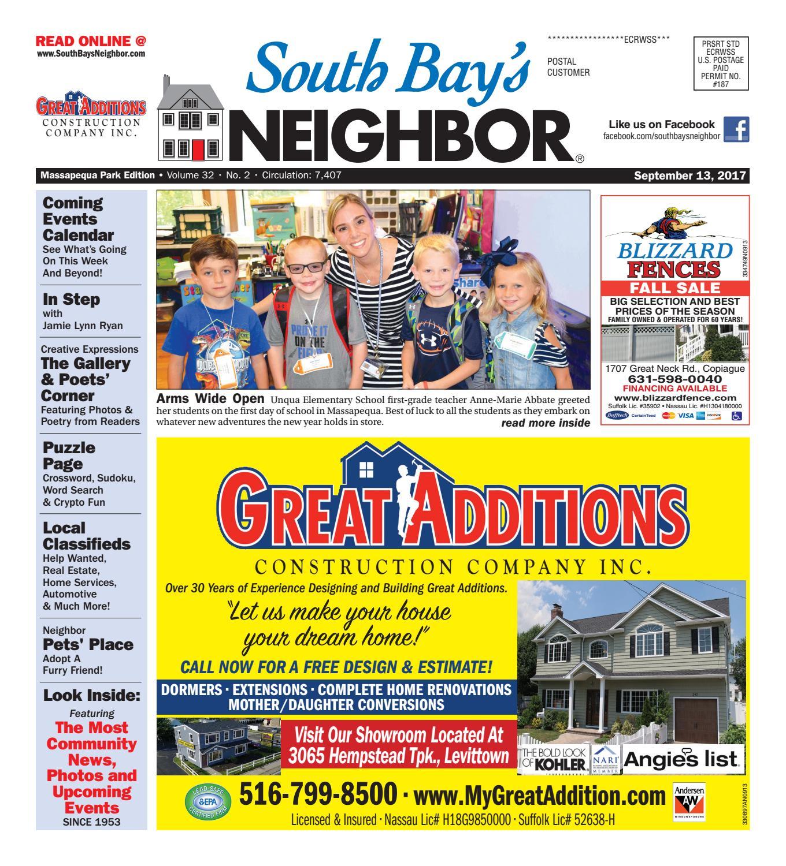 11e79147 September 13th, 2017 Massapequa Park by South Bay's Neighbor Newspapers -  issuu