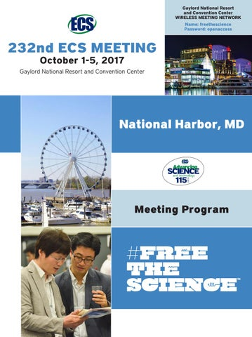 2edebbb46c2c09 232nd ECS Meeting, National Harbor, MD by The Electrochemical ...