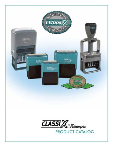 "ClassiX ECO Self-Inking Message Stamp 1/"" X 2-1//2/""  4 line Stamp EP13"