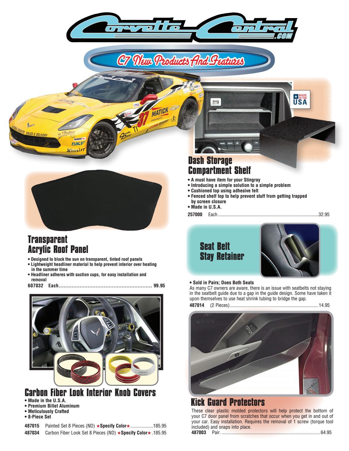 Corvette C7 Stingray Yellow Carbon Fiber Look Hat