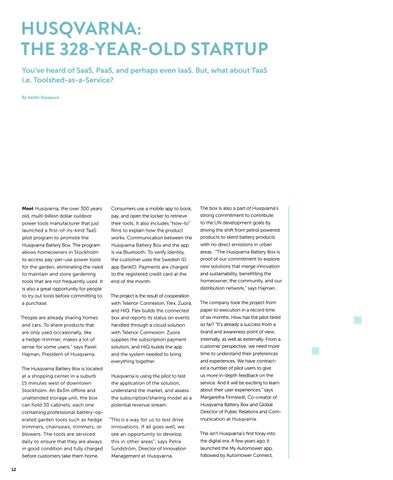 Page 12 of Husqvarna: The 328-Year-Old Startup