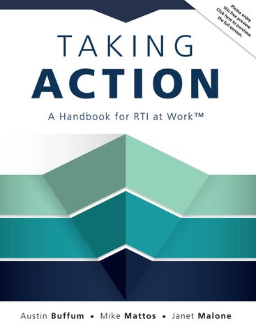 Study Rti Practice Falls Short Of >> Taking Action A Handbook For Rti At Work By Solution Tree Issuu