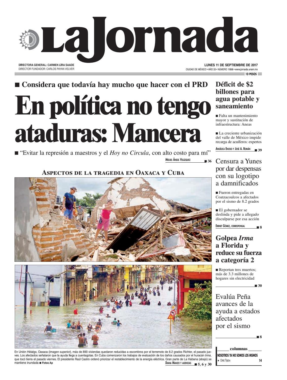 La Jornada 09 11 2017 By La Jornada Demos Desarrollo De Medios  # Vacantes Muebles Dico Guadalajara