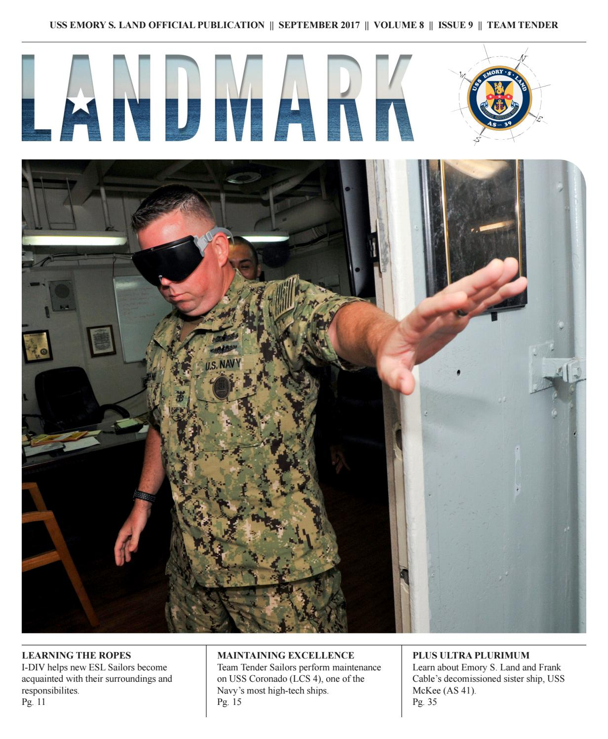 September Landmark by USS Emory S  Land - issuu