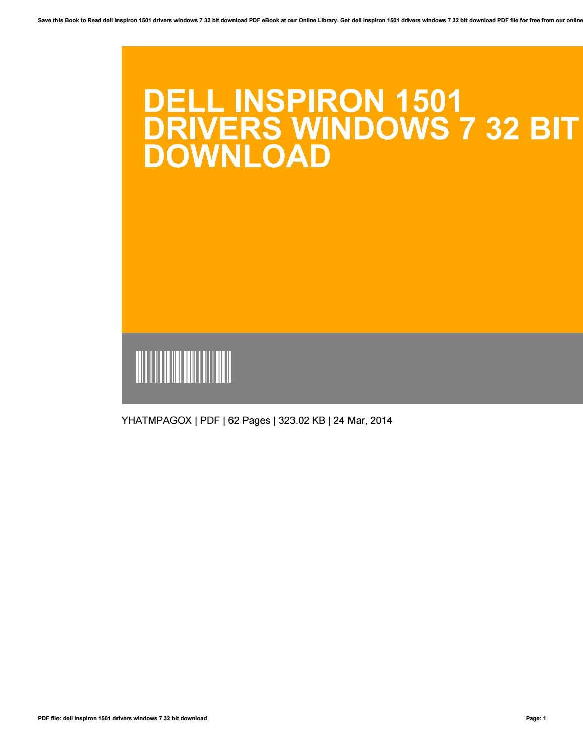 Dell inspiron 1501 drivers windows 7 32 bit download by