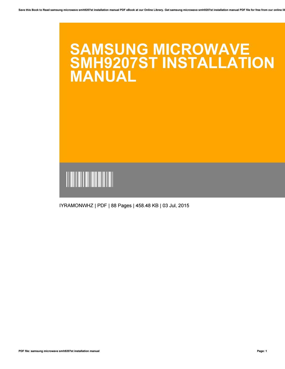Samsung Microwave Smh9207stbestmicrowave