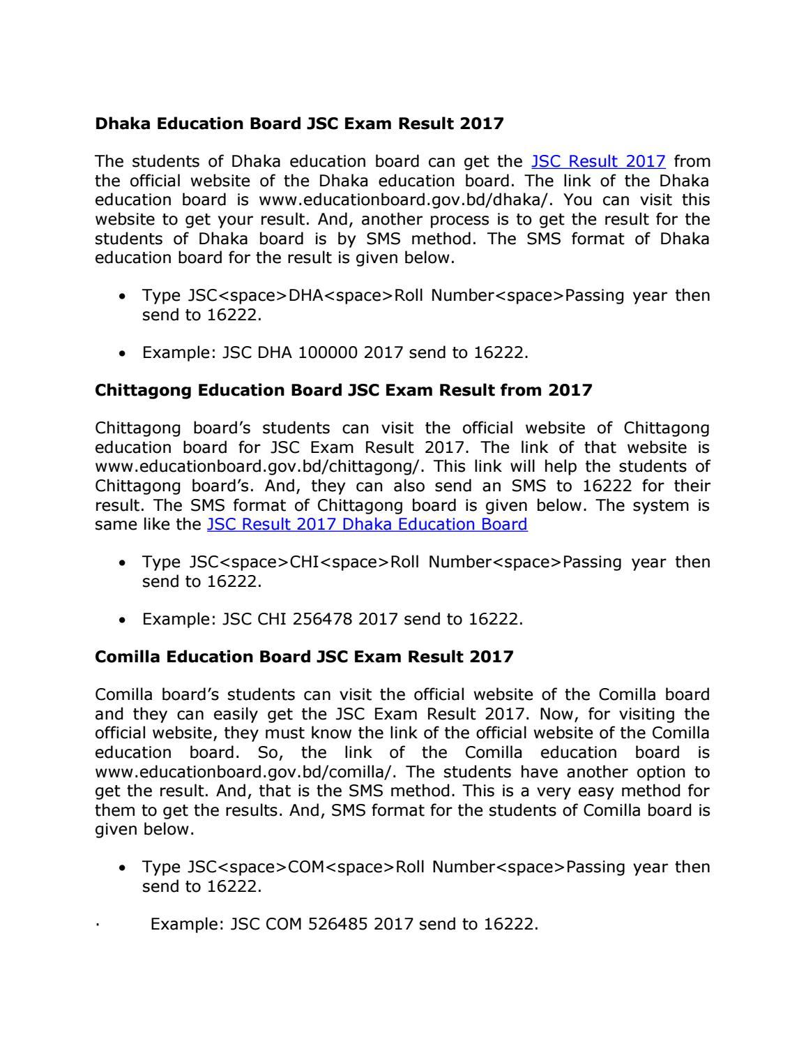 JSC Result 2017 Publish Date by JSC Result 2017 - issuu