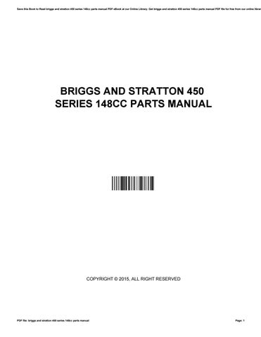 briggs and stratton 450 series 148cc manual